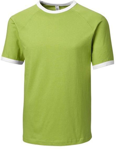 Light Green Clique Playlist Ringer Tee
