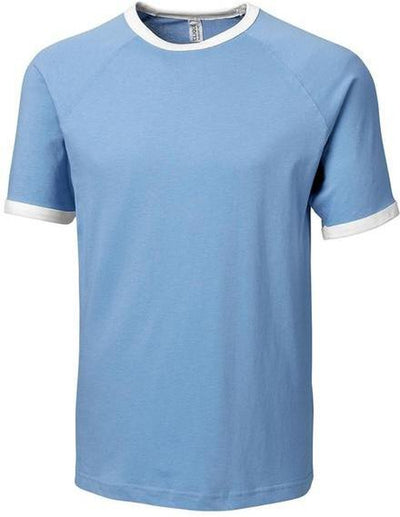 Light Blue Clique Playlist Ringer Tee