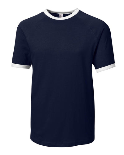 Clique Playlist Ringer Tee-XS-Navy-Thread Logic