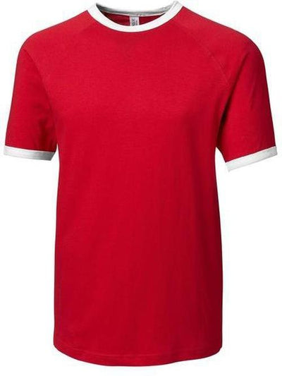 Clique Playlist Ringer Tee-XS-Red-Thread Logic