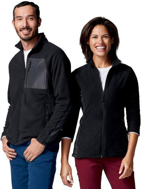 Clique Summit Microfleece Hybrid Full Zip-S-Black-Thread Logic