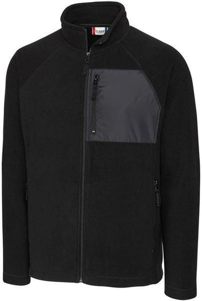 Black Clique Summit Microfleece Hybrid Full Zip