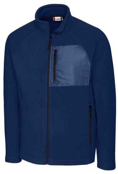 Navy Clique Summit Microfleece Hybrid Full Zip