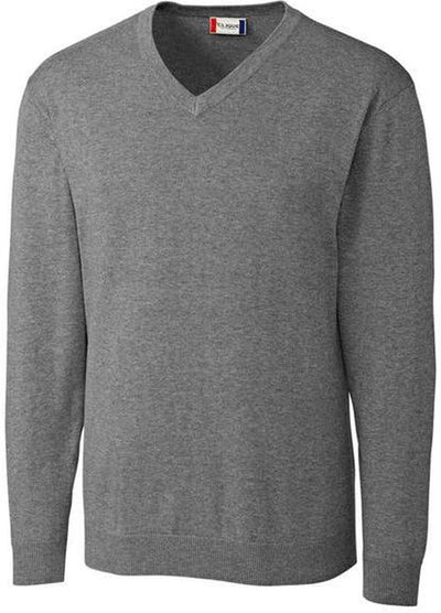 Clique Imatra V-neck Sweater-S-Grey Melange-Thread Logic