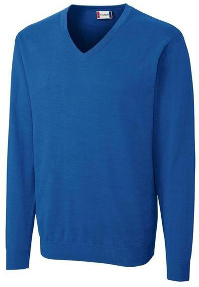 Clique Imatra V-neck Sweater-S-Sea Blue-Thread Logic