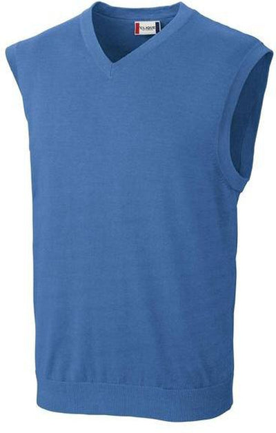 Clique Imatra V-neck Sweater Vest-S-Sea Blue-Thread Logic