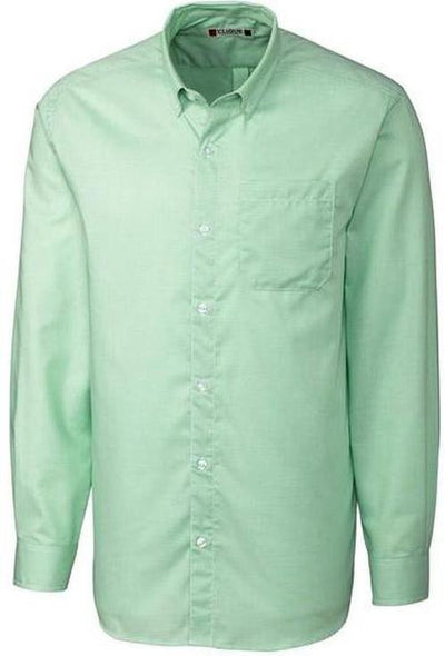 Clique L/S Granna Stain Resistant Houndstooth-S-Sea Green/White-Thread Logic