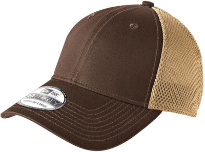 New Era Stretch Mesh Cap-L/XL-Chocolate/Khaki-Thread Logic