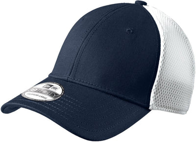 New Era Stretch Mesh Cap-L/XL-Deep Navy/White-Thread Logic
