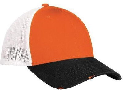 New Era Vintage Mesh Cap-L/XL-Black/Deep Orange/White-Thread Logic