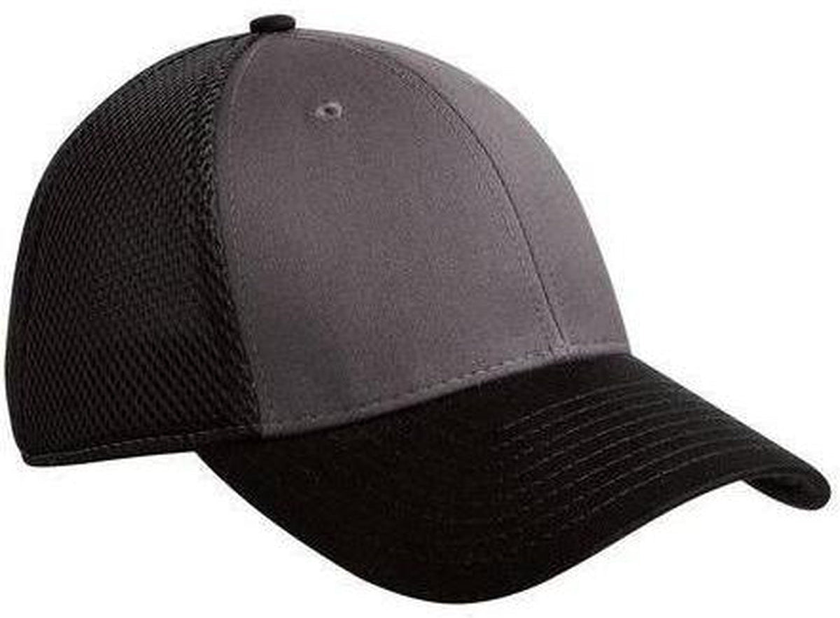 New Era Snapback Contrast Mesh Cap-Charcoal/Black-Thread Logic