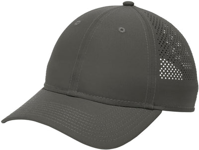New Era Perforated Performance Cap-Graphite-Thread Logic