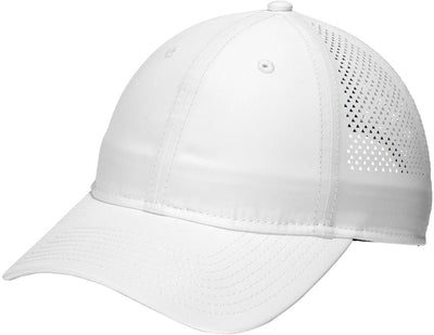 New Era Perforated Performance Cap-White-Thread Logic