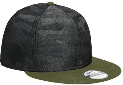 New Era Camo Flat Bill Snapback Cap