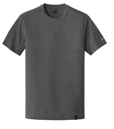 New Era Heritage Blend Crew Tee-S-Black Heather-Thread Logic