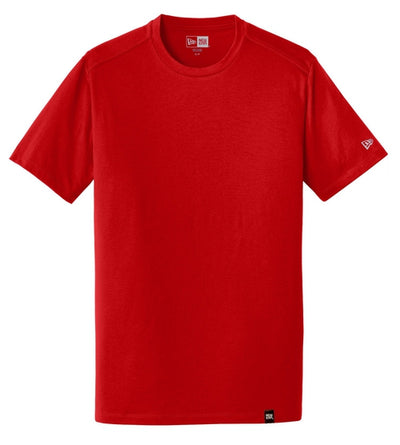 New Era Heritage Blend Crew Tee-S-Scarlet Red-Thread Logic