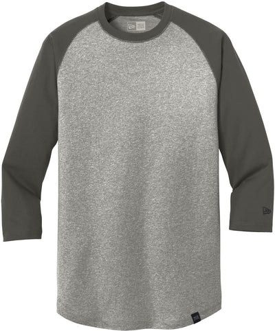 New Era Heritage 3/4-Sleeve Baseball Raglan Tee-S-Graphite/Light Graphite Twist-Thread Logic
