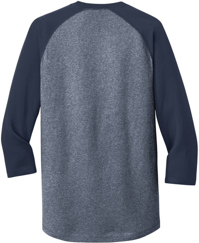 New Era Heritage 3/4-Sleeve Baseball Raglan Tee-Thread Logic no-logo