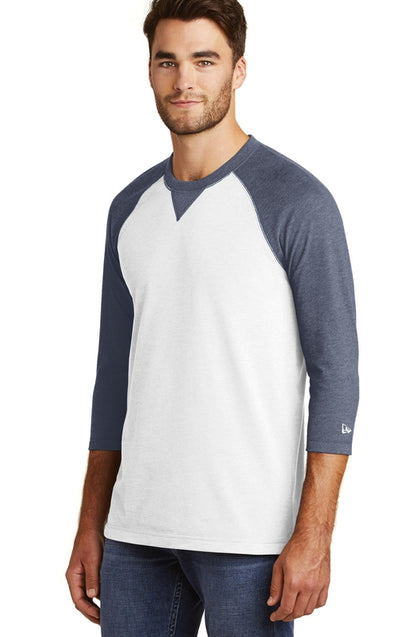 New Era Sueded Cotton 3/4-Sleeve Baseball Raglan Tee-Thread Logic no-logo