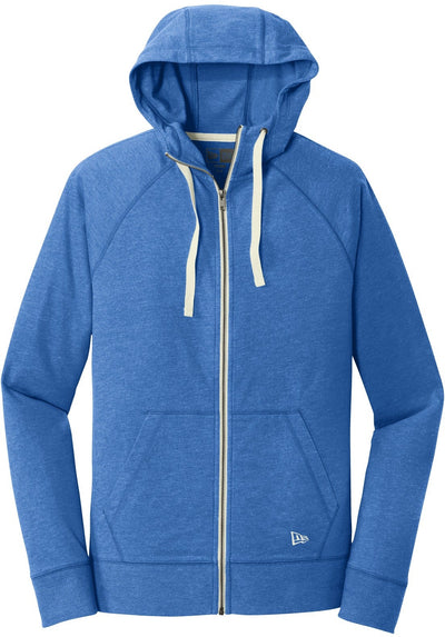 Royal Heather New Era Sueded Cotton Full-Zip Hoodie