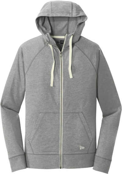 Shadow Grey Heather New Era Sueded Cotton Full-Zip Hoodie