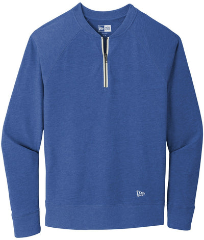 New Era Sueded Cotton Blend 1/4-Zip Pullover-S-Royal Heather-Thread Logic