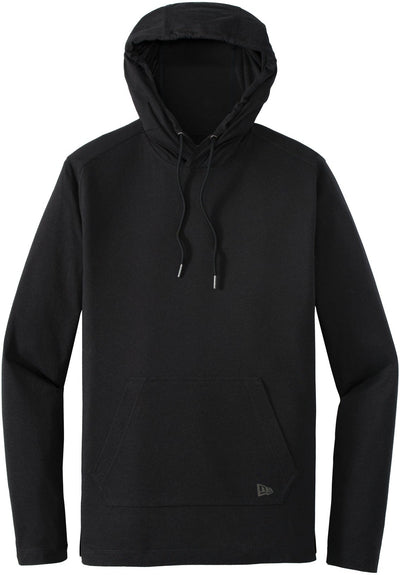 New Era Tri-Blend Performance Hoodie Tee-S-Black Solid-Thread Logic