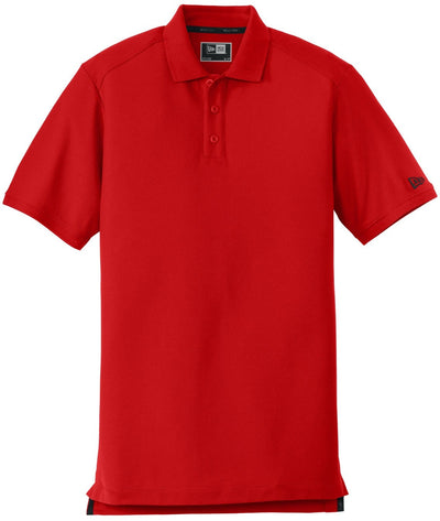 New Era Venue Home Plate Polo-S-Scarlet Red-Thread Logic