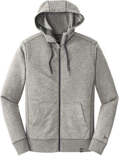 New Era French Terry Full-Zip Hoodie-S-Light Graphite Twist-Thread Logic