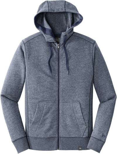 New Era French Terry Full-Zip Hoodie-S-True Navy Twist-Thread Logic