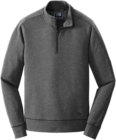 New Era Tri-Blend Fleece 1/4-Zip Pullover-S-Black Heather-Thread Logic