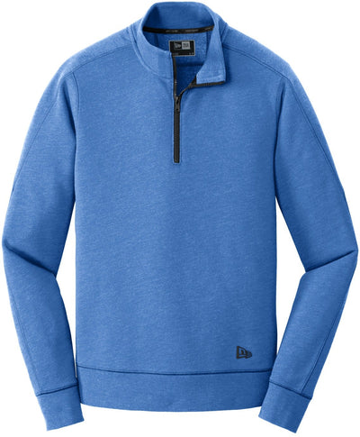 New Era Tri-Blend Fleece 1/4-Zip Pullover-S-Royal Heather-Thread Logic