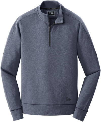 New Era Tri-Blend Fleece 1/4-Zip Pullover-S-True Navy Heather-Thread Logic