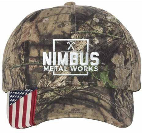 Outdoor Cap Camo Cap with Flag Visor
