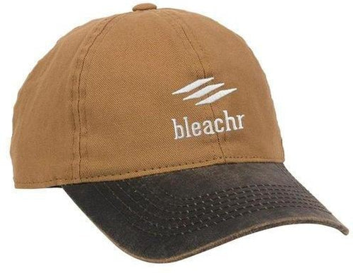 Outdoor Cap Weathered Canvas Crown Cap with Contrast-Color Visor