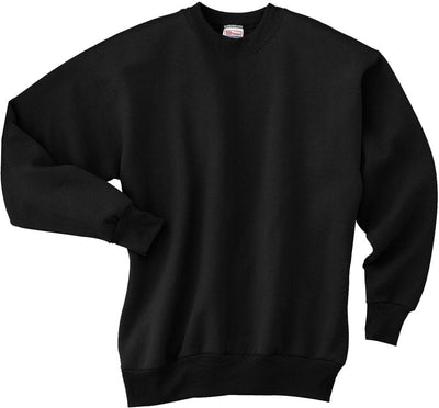 Hanes-Comfortblend Crewneck Sweatshirt-S-Black-Thread Logic