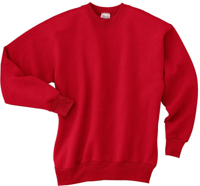 Hanes-Comfortblend Crewneck Sweatshirt-S-Deep Red-Thread Logic