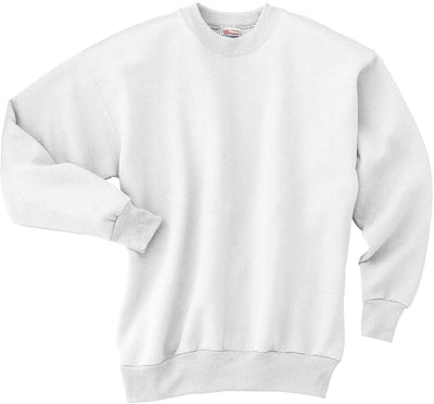 Hanes-Comfortblend Crewneck Sweatshirt-S-White-Thread Logic