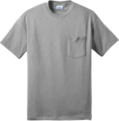 Port & Company-Tall Core Blend Pocket Tee-XLT-Athletic Heather-Thread Logic