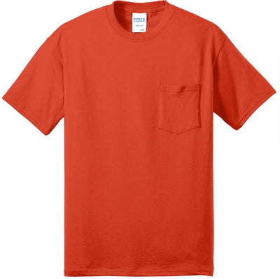 Port & Company-Tall Core Blend Pocket Tee-XLT-Orange-Thread Logic