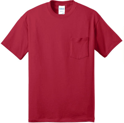 Port & Company-Tall Core Blend Pocket Tee-XLT-Red-Thread Logic