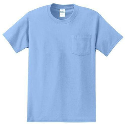 Port & Company-Tall Essential T-Shirt-LT-Light Blue-Thread Logic