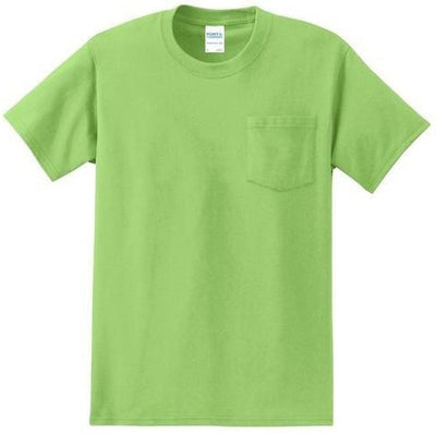 Port & Company-Tall Essential T-Shirt-LT-Lime Green-Thread Logic