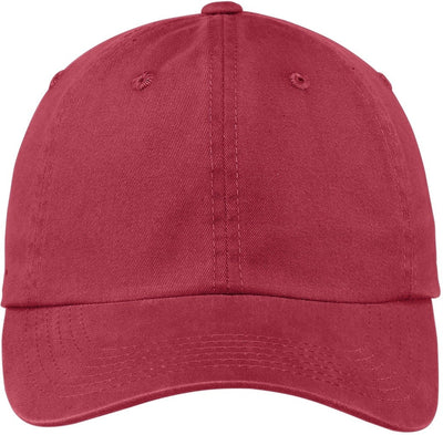 Port Authority-Garment Dyed Cap-Berry-Thread Logic