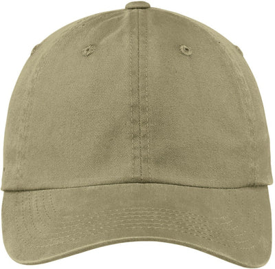 Port Authority-Garment Dyed Cap-Khaki-Thread Logic