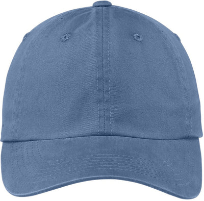 Port Authority-Garment Dyed Cap-Steel Blue-Thread Logic