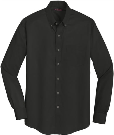 Red House-Red House Non-Iron Twill Dress Shirt-S-Black-Thread Logic