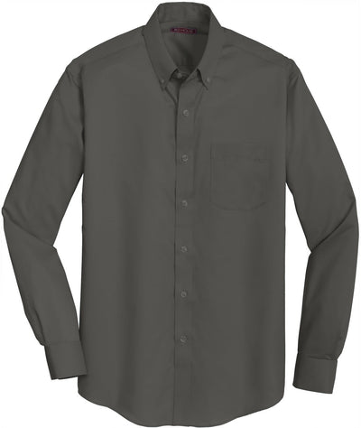Red House-Red House Non-Iron Twill Dress Shirt-S-Grey Steel-Thread Logic
