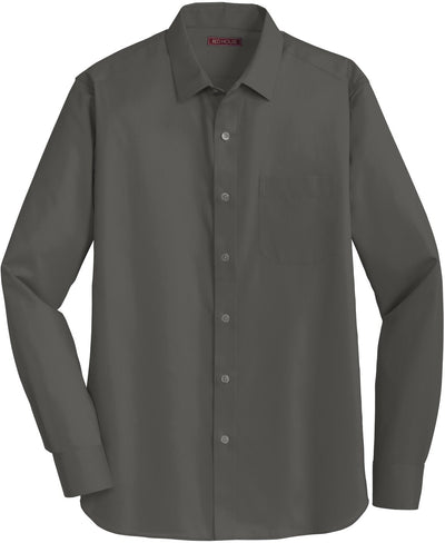 Red House-Red House Slim Fit Non-Iron Twill Shirt-S-Grey Steel-Thread Logic