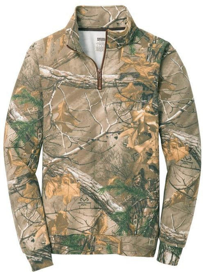 Russell-Russell Outdoors Realtree 1/4-Zip Sweatshirt-S-Realtree Extra-Thread Logic